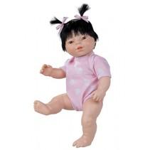 babypop Newborn met romper Aziatisch 38 cm meisje