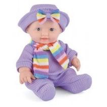 Snuggles babypop Sophia meisjes 25 cm paars 4-delig