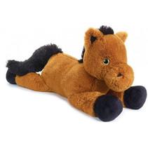 knuffeldier paard junior 80 cm pluche bruin