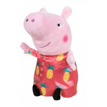 knuffel Peppa Pig junior 42 cm polyester blauw/roze