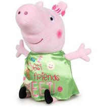 knuffel Happy Peppa Pig 30 cm polyester groen