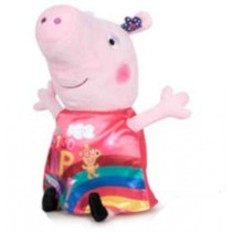 knuffel Happy Peppa Pig 30 cm polyester rood/roze