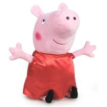 knuffel Happy Peppa Pig junior 30 cm polyester rood