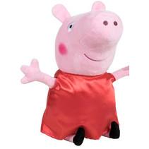 knuffel Peppa Pig junior 20 cm polyesterrood
