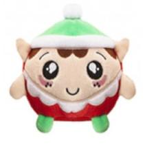 knuffel Squishimi Xmas junior pluche 9 cm groen/rood