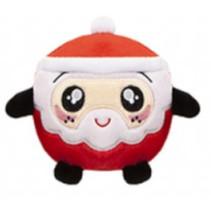 knuffel Squishimi Xmas junior pluche 9 cm rood/zwart