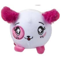 knuffel Squishimi hond junior pluche 9 cm wit/roze