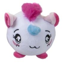 knuffel Squishimi eenhoorn junior pluche 9 cm wit/roze