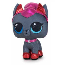 knuffel LOL Pet junior 18 cm polyester grijs/rood