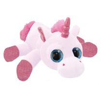knuffel Unicorn meisjes 25 cm pluche roze