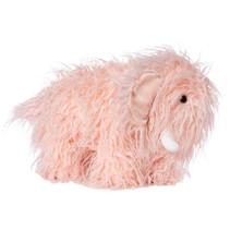 knuffel Mammoet meisjes 18 cm pluche/suède roze