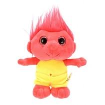 knuffel trol rood 25 cm