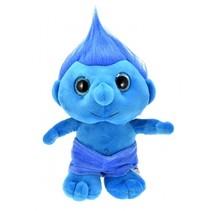 knuffel trol blauw 25 cm