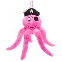 knuffel octopus 28 cm roze