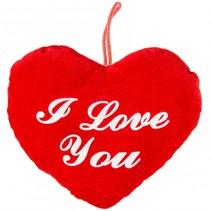knuffelhart I love you 20 cm rood