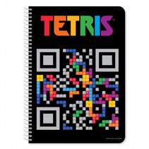 schrift Tetris QR junior 17x25 cm papier zwart 60 pagina's