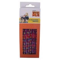 potloden Minions meisjes hout paars/roze 10 stuks