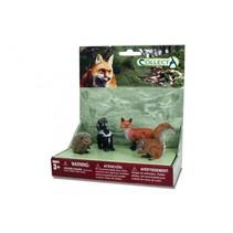 bosdieren: speelset in giftverpakking 4-delig