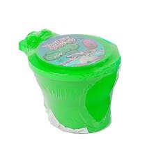 toilet met neonkleurige putty 10 cm junior groen