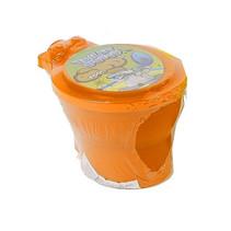 toilet met neonkleurige putty 10 cm junior oranje