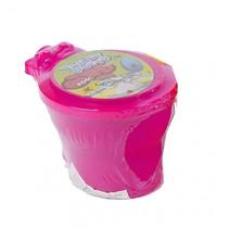 toilet met neonkleurige putty 10 cm junior roze