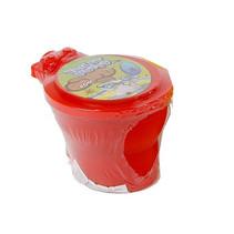 toilet met neonkleurige putty 10 cm junior rood