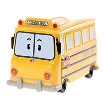 Robocar Poli - diecast schoolbus 7 cm geel