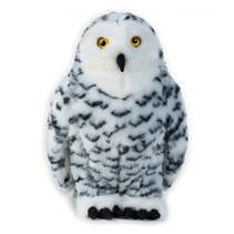 knuffeldier sneeuwuil junior 27 cm pluche wit/zwart