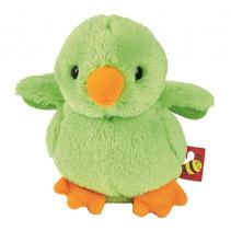 knuffelvogel met geluid 8 x 7 x 5,5 cm pluche groen