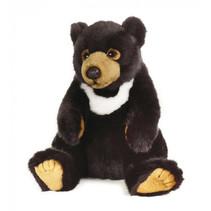 knuffelbeer junior 26 cm pluche zwart/bruin/wit