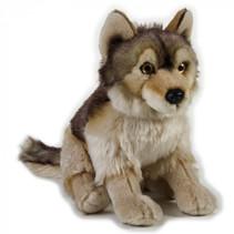 knuffelwolf junior 25 cm pluche bruin