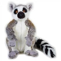 knuffeldier maki junior 30 cm pluche grijs/wit/zwart