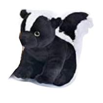 knuffelstinkdier junior 30 cm pluche zwart/wit