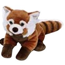 knuffeldier rode panda junior 30 cm pluche rood/bruin