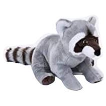 knuffelwasbeer junior 30 cm pluche grijs/zwart/wit