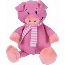 knuffelvarken 25 cm pluche roze