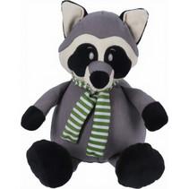knuffelwasbeer 25 cm pluche grijs