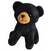 knuffel zwarte beer junior 13 cm pluche