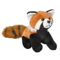 knuffel rode wasbeer 13 cm pluche bruin/zwart