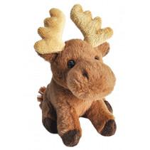 knuffel eland junior 13 cm pluche bruin