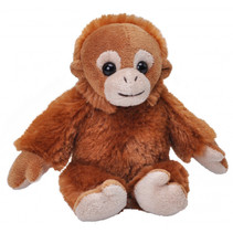 knuffel orang-oetan 13 cm pluche bruin