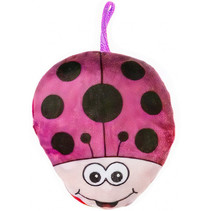 knuffel-lieveheersbeest junior 14 cm pluche roze