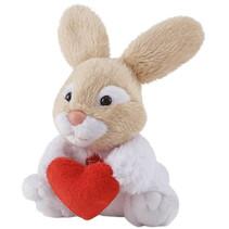 knuffelkonijn liefde junior 12 cm pluche beige/wit/rood
