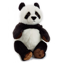 knuffelpanda junior 22 cm pluche zwart/wit