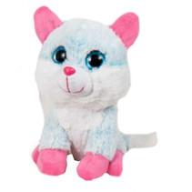knuffeldier Animal Party junior 15 cm blauw/roze
