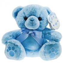 teddybeer jongens 15 cm pluche/polyester lichtblauw