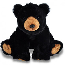 knuffelbeer junior 30 cm pluche zwart/bruin