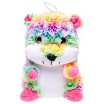 knuffelbeer 20 cm multicolor/roze