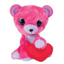 knuffelbeer Valentijn 15 cm roze
