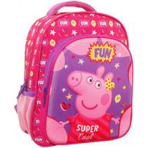 rugzak Peppa Pig junior 27 x 31 cm polyester roze